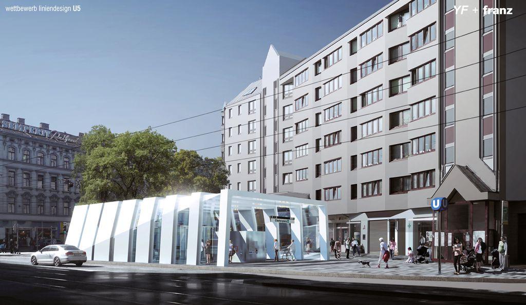 Wien design der u bahnlinie 5 pr sentiert for Design schule wien