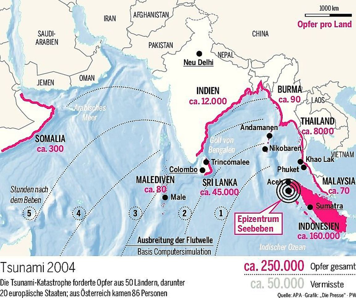 Tsunami 2004 Sri Lanka Karte.Rekordwelle Das Unglück Das Niemand Kommen Sah Diepresse Com