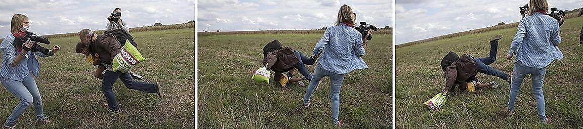 Flüchtling Bein Gestellt