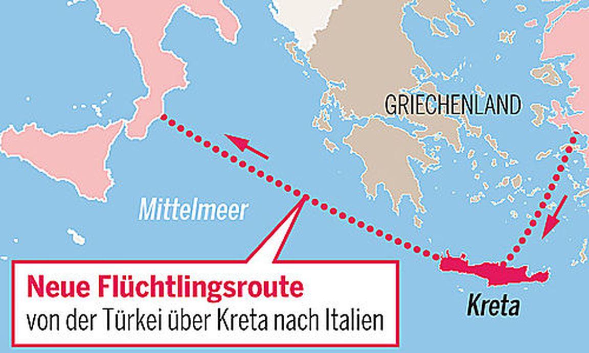 Kreta Flüchtlinge