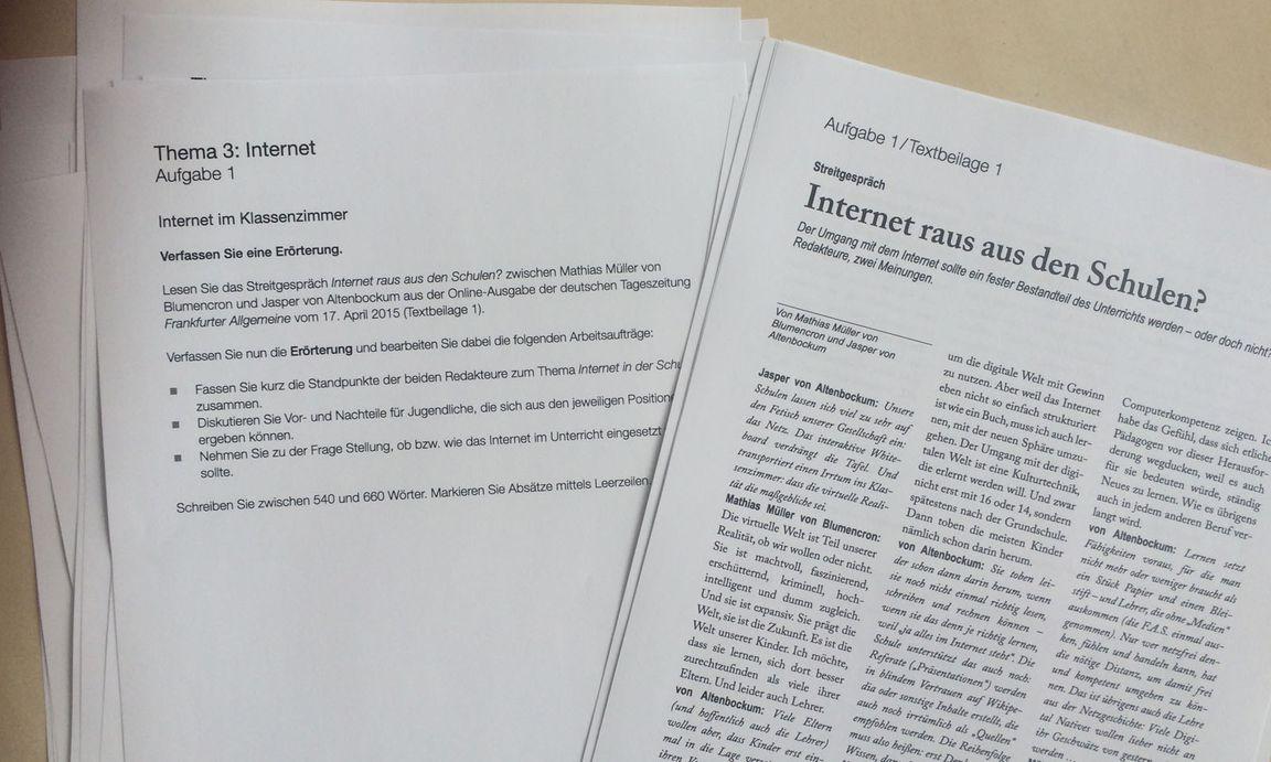 """Vermesst euch!"""": Die Aufgaben der Deutschmatura « DiePresse.com"""