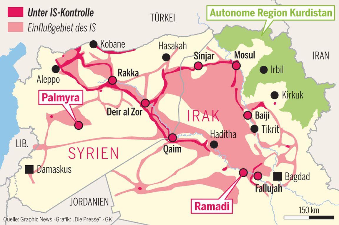 Syrien Irak Karte.Warum Der Islamische Staat Nicht Zu Stoppen Ist Diepresse Com