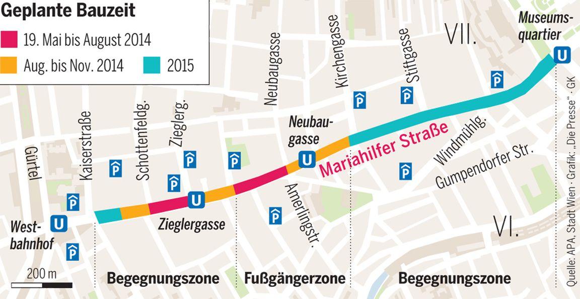 Mariahilfer Straße: Der Umbau startet « DiePresse.com