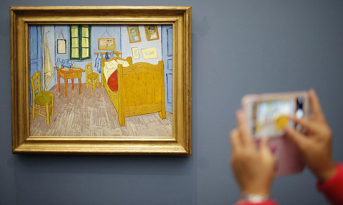 Schlafzimmer in arles  Forscher: Van Goghs