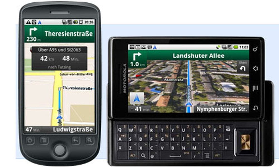 android handys google maps navi startet in sterreich. Black Bedroom Furniture Sets. Home Design Ideas
