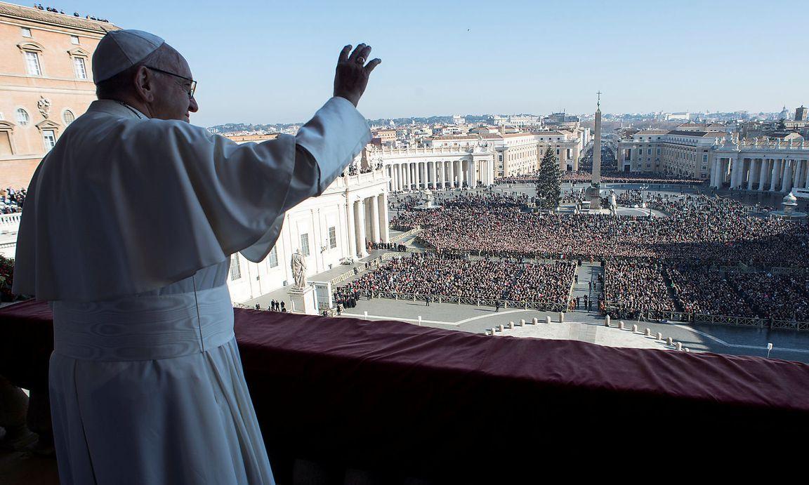 Papst mahnt in Weihnachtsbotschaft zur Zweistaaten-Lösung ...