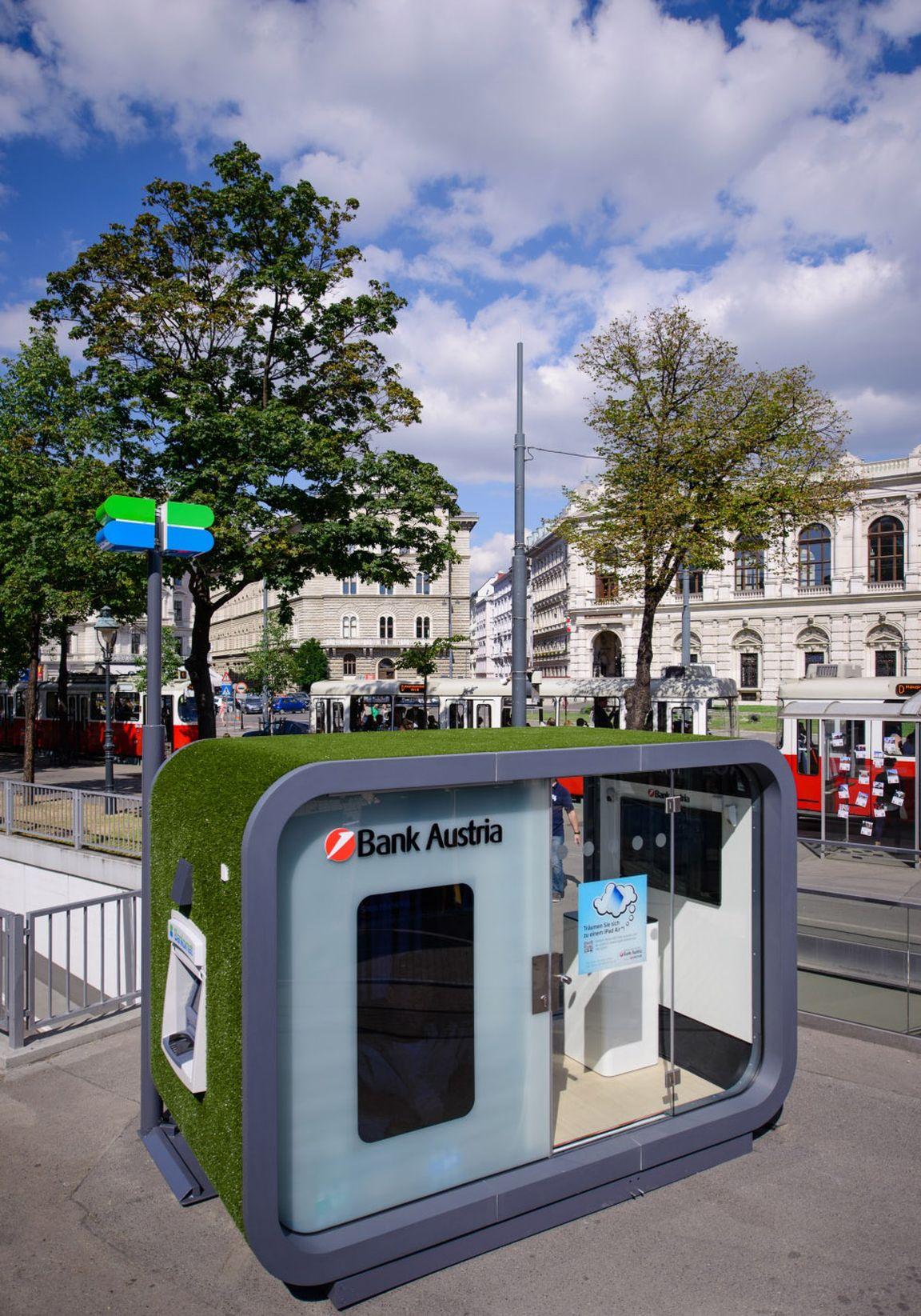 bank austria er ffnet erste mobile filiale. Black Bedroom Furniture Sets. Home Design Ideas