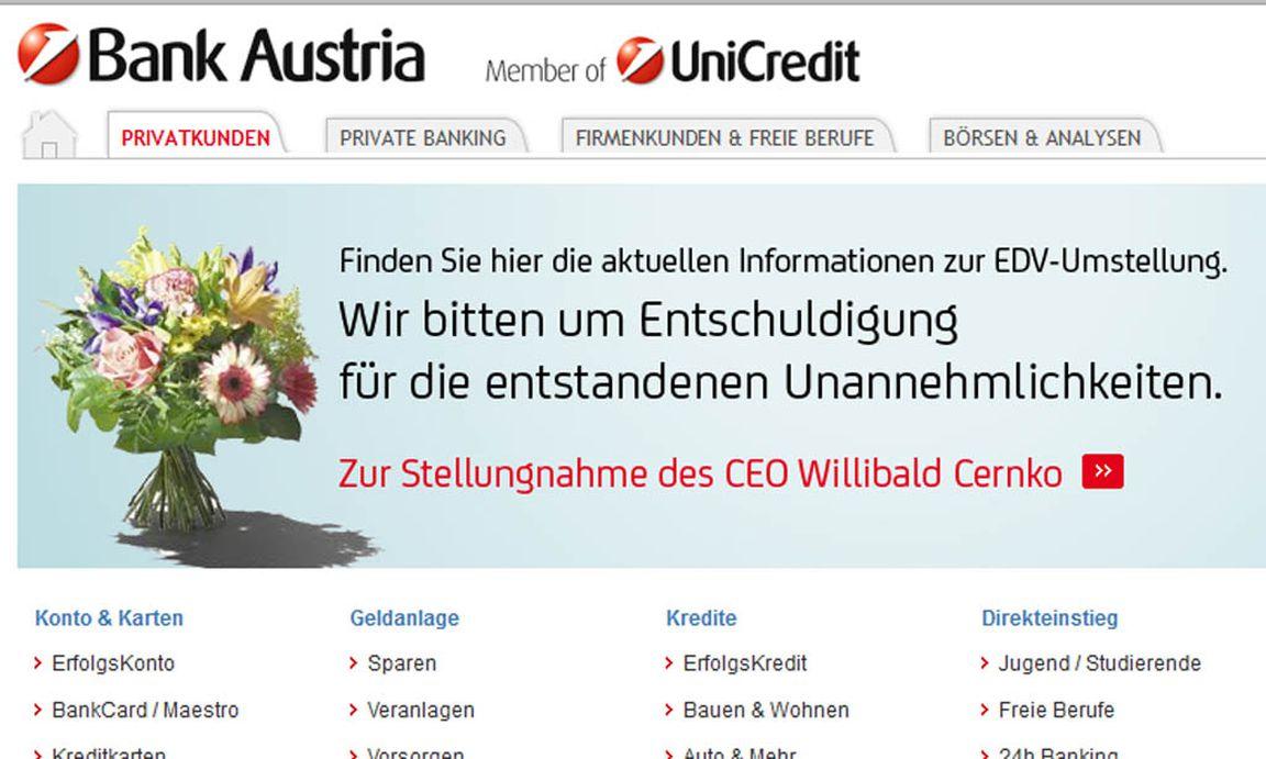 bank austria dreht online banking ber nacht erneut ab. Black Bedroom Furniture Sets. Home Design Ideas