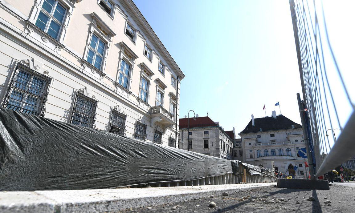 Die Baustelle beim Bundeskanzleramt.