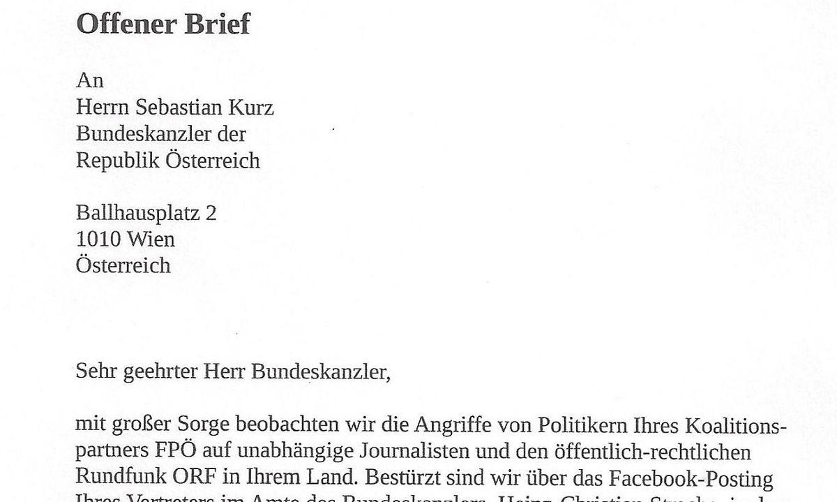 Fpö Attacken Gegen Orf Deutsche Journalisten Fordern Kurz Zum