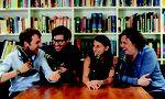 Die Podcaster Andrew Hunter Murray, Dan Schreiber, Anna Ptaszynski und James Harkin (v. l.) kommen nach Wien.