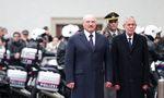 Alexander Lukaschenko mit Bundespräsident Van der Bellen.