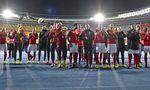 Österreichs Team war nach dem 3:1 gegen Israel bester Laune. Am Sonntag sollen Punkte gegen verunsicherte Slowenen folgen.