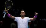 13th November 2019; 02 Arena. London, England; Nitto ATP, Tennis Herren Tennis Finals; Rafael Nadal (Spain) celebrates