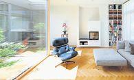 Wohnbereich mit Atrium. / Bild: (c) maxkropitz.com