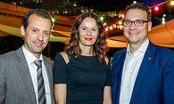 Die Top Service Gewinner: Martin Hauser (Otis), Elke Schaffer (A1 Telekom Austria), Roland Spitzhirn (Scanpoint) / Bild: (c) Christian Husar