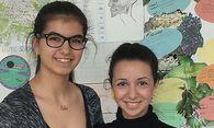 Können wieder lachen: Sprungbrett-Schützlinge Eda Shabaz (20, links) und Melodi Elmas (16). / Bild: [ Andrea Lehky ]