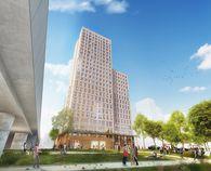 In der Seestadt Aspern wird das erste Holz-Hochhaus ´Hoho´ gebaut. / Bild: RLP Ruediger Lainer u. Partner