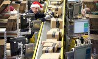 Vor Weihnachten steigt das Paketaufkommen in den Amazon-Verteilzentren stark an.