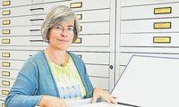 Eine besondere Rolle beim Jubiläum für Archivarin Franziska Lettowsky.