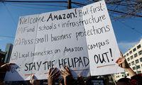 Demonstration gegen neuen Firmensitz von Amazon in New York