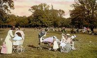 Sonntagsausflug auf einer der Praterwiesen 1905.