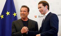 Austrian Chancellor Kurz receives Arnold Schwarzenegger in Vienna