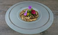 Cremige Polenta mit Shiitake-Pilzen und Wachtelei