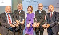 Die AREX-Preisträger 2019: Georg Wailand (Krone), Bernd H. J. Bothe (Spar), Carolin Schmid Schmidsfelden (Sinnbildungsstiftung), Hans Jörg Kaltenbrunner (ams AG), Ernst Marth (Pro Juventute).
