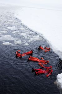 Visit Finland Als Erste bot einst die Sampo Passagieren die Gelegenheit zum Eisbad.
