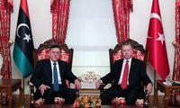 Turkish President Erdogan meets with Libya´s internationally recognised Prime Minister Fayez al-Sarraj in Istanbul