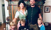 Katharina Wimmer mit Familie.