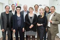 v.l.n.r.: D. Mattes (42.cx), H. Prattes (Telekom Austria Group), C. Antlanger-Winter (Mindshare Austria), H. Oszvald (IBM Österreich), J. Neidhardt (TU Wien), C. Hammer (NAVAX Unternehmensgruppe), M. Wolkenstein (styria digital one), J. Schmidt (strg.at), T. Stern (Moderation)