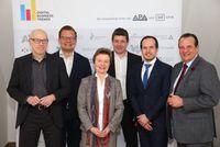 Im Bild v.l.n.r.: Jochen Robes (Robes Consulting), Jürgen Hofer (HORIZONT, Manstein Verlag), Gerti Kappel (TU Wien) , Alexis Johann (FehrAdvice & Partners), Marcus Kapun (BAWAG P.S.K.) und Thomas Stern (Braintrust)