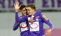 Austria-Youngster Manprit Sarkaria (l.) und Benedikt Pichler.