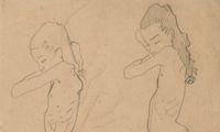 Oskar Kokoschka schwärmte für Lilith Lang und fertigte diese Studien an.