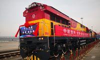 Start des ersten direkten Güterzugs der Rail Cargo Group von China nach Wien im April 2018.