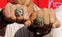 New England Patriots Koppen, Izzo and Paxton show Super Bowl rings at ESPY Awards pre-party at Playboy ...