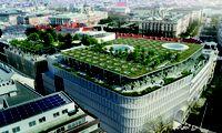 Über den Dächern Wiens soll bis 2023 ein 1000 Quadratmeter großer öffentlich zugänglicher Park entstehen.