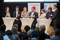 Zu Innovation in Unternehmen diskutierten bei den Digital Business Trends Vertreterinnen und Vertreter von Exponential Business Hub, Fabasoft, Manstein Zeitschriften Verlag, A1 Telekom Austria, Deloitte Österreich, TU Wien und Wien Energie.