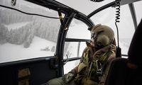 Eine Alouette III des Bundesheeres bei einem Versorgungsflug in der Obersteiermark