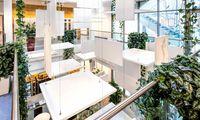 Akustikplatten als Raumdesign: Dämpft seit 2018 den Schall und erfreut das Auge im Foyer des Lab East Building/IST Austria Wien.