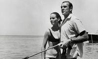 Claudine Auger und Sean Connery