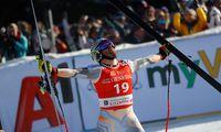 Norweger in Jubelpose: Jansrud triumphiert beim Super-G von Kitzbühel.