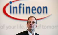 FILE PHOTO: Reinhard Ploss, CEO of German semiconductor manufacturer Infineon poses before the company's annual news conference in Neubiberg