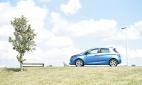 FILE PHOTO: VW e-Golf electric car charges outside the Transparent Factory in Dresden