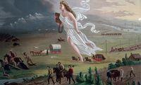 """Das Gemälde """"American Progress"""" von John Gast transportiert Mythen, die bis heute das Selbstverständnis der US-Amerikaner prägen. Sie wurden in dem Wild-West-Computerspiel """"Red Dead Redemption"""" wieder aufgegriffen."""