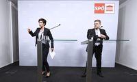 SPÖ-Bundesparteichefin Pamela Rendi-Wagner mit ihrem Geschäftsführer Christian Deutsch.