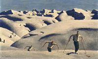 """""""Aufstieg der Skifahrer"""", 1933"""