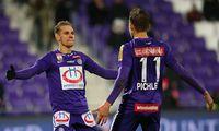 Austria-Spieler Christoph Monschein und Benedikt Pichler